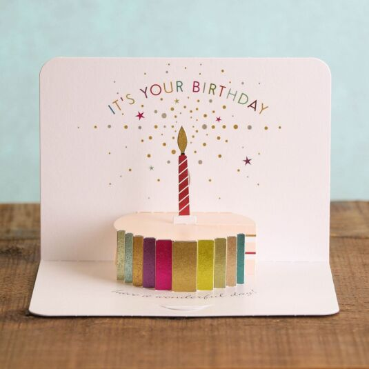 Birthday Cake 3D Card