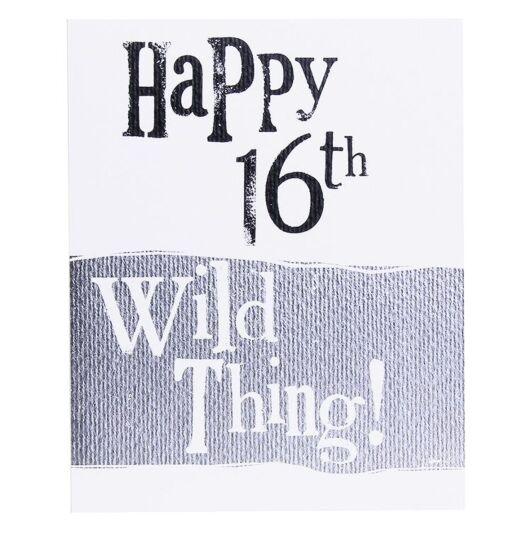 'Wild Thing 16' Birthday Card