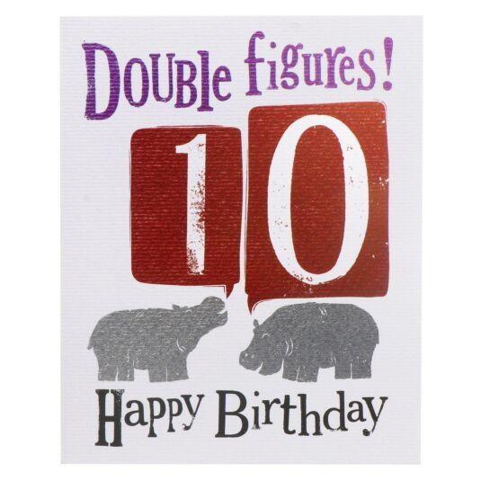 'Double Figures! 10' Birthday Card