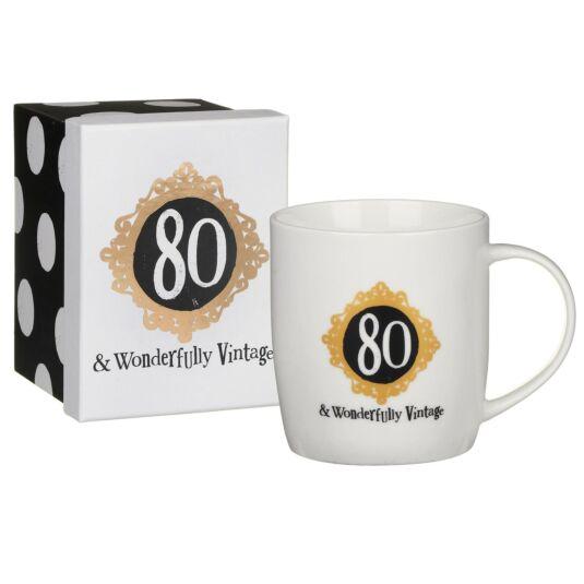 '80 & Wonderfully Vintage' Boxed Mug