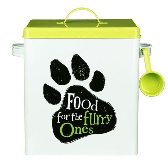 """""""Furry Ones"""" Dog Food Tin"""
