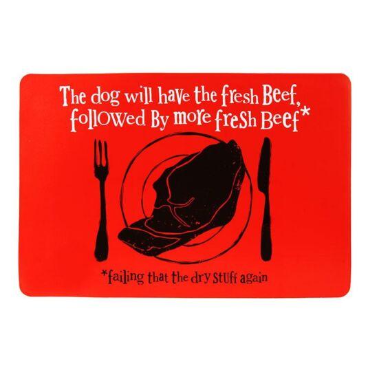 """""""Fresh Beef"""" Dog Food Mat"""
