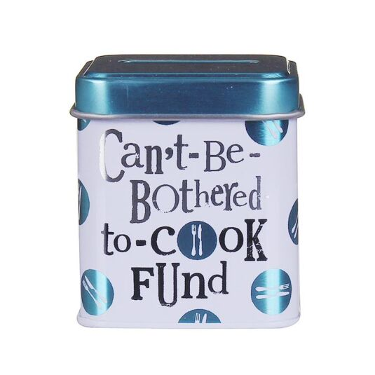 'Can't Be Bothered To Cook' Mini Cash Stash Tin