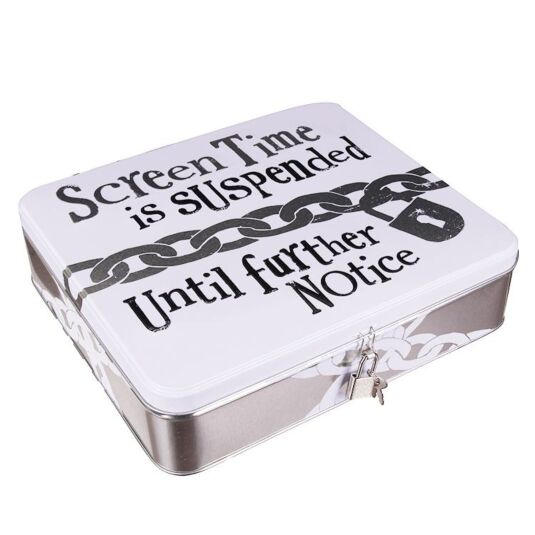 'Screen Time Suspended' Device Lock-Up Tin