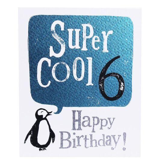 'Super Cool 6' Birthday Card