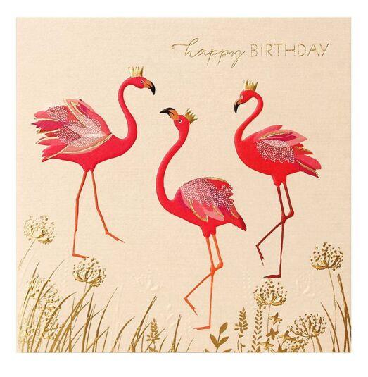 Flamingo Trio Birthday Card