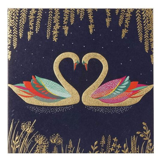 Romantic Swans Greeting Card