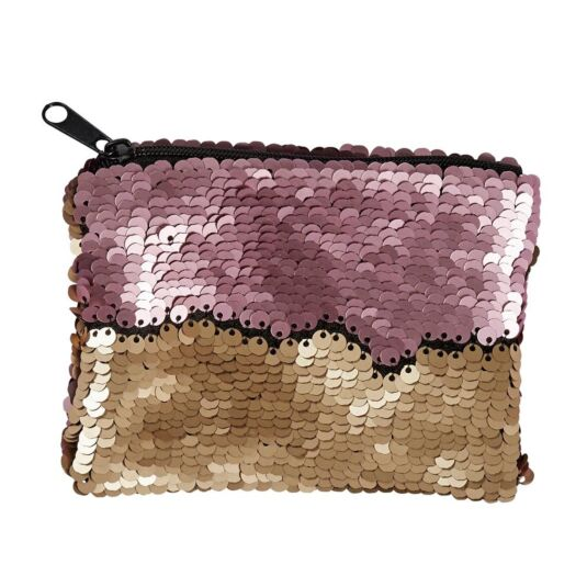 Pink/Gold Sequin Coin Purse