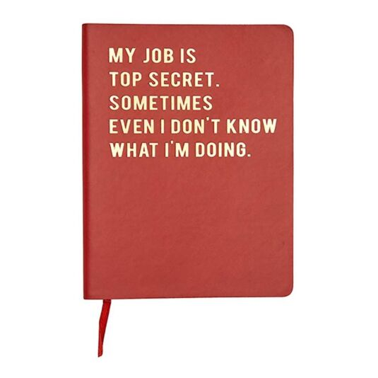 Cloud Nine 'My Job Is Top Secret' A6 Lined Notebook