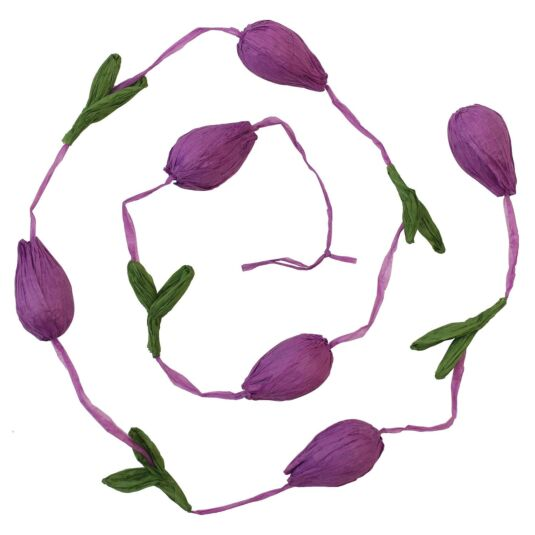 Purple Paper Tulip Garland