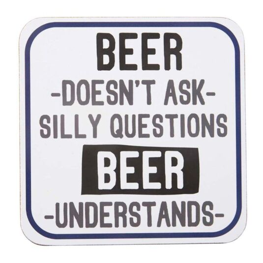 'Beer Understands' Coaster