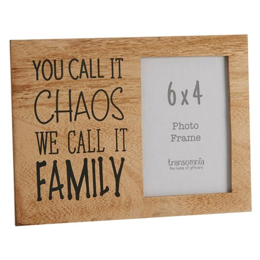 Family Saying 'Chaos' 6 x 4 Photo Frame