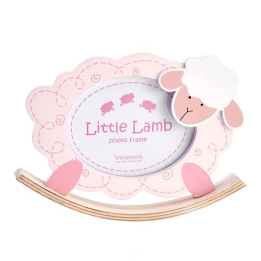 Pink Rocking Sheep Photo Frame
