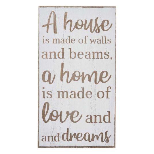 'Love & Dreams' Wooden Sign