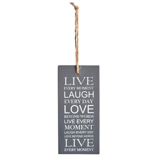 Live Laugh Love Hanging Quote Sign