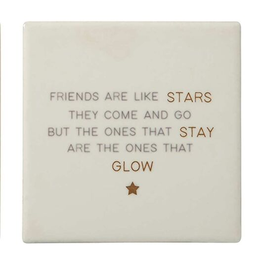 Lily Loves 'Friends Are Like Stars' Friendship Coaster