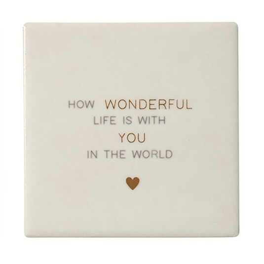 Lily Loves 'How Wonderful Life Is' Friendship Coaster