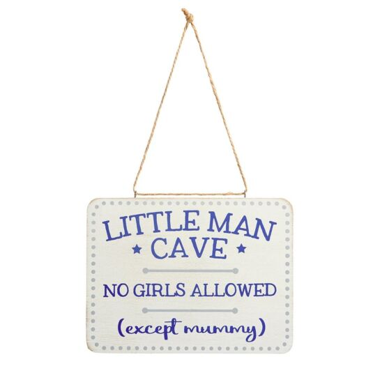 'Little Man Cave' Sign