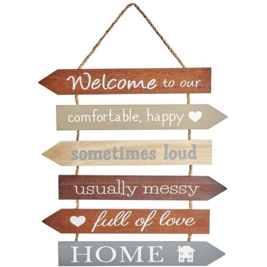 'Welcome To Our Home' Multi-Arrow Sign