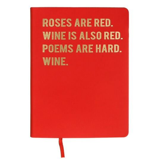 Cloud Nine 'Roses Are Red' A6 Notebook