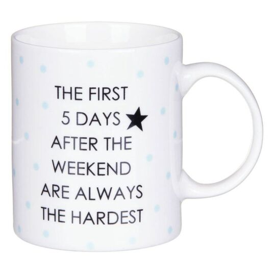 Office Humour The First 5 Days After the Weekend Mug