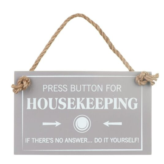 'Press Button For Housekeeping' Sign