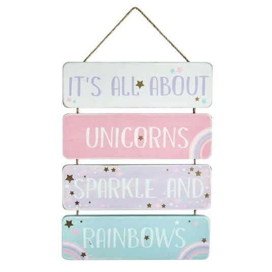 It's All About Unicorns Sparkle Sign
