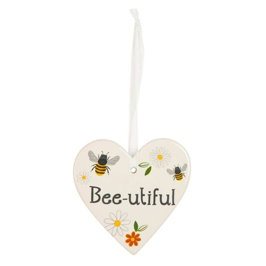 Busy Bee 'Bee-utiful' Hanging Heart