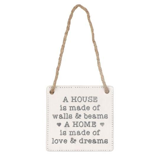 'Love & Dreams' Ceramic Sign