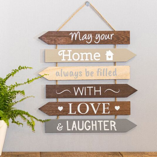 'May Your Home' Multi Arrow Sign