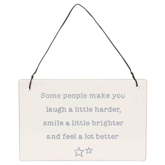 Laugh a Little Porcelain Plaque
