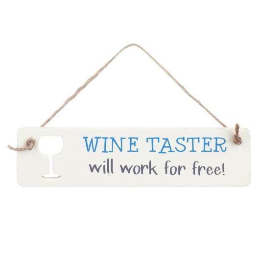 'Wine Taster' Sign