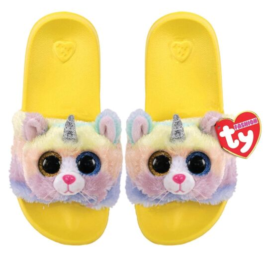 Heather Yellow Beanie Boo Small Slides