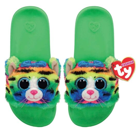 Tigerly Green Beanie Boo Small Slides