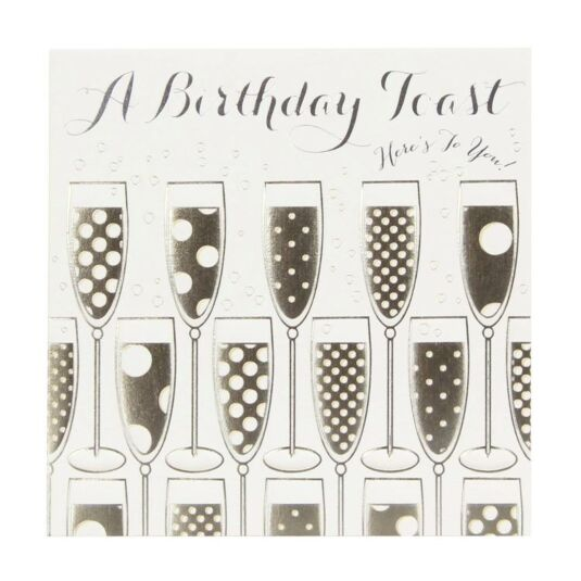 Fresco Happy Birthday with Champagne Card