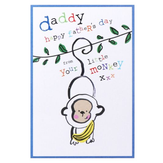 Your Little Monkey' Father's Day Card