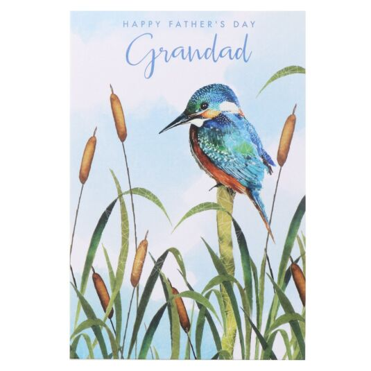 'Grandad' Kingfisher Father's Day Card