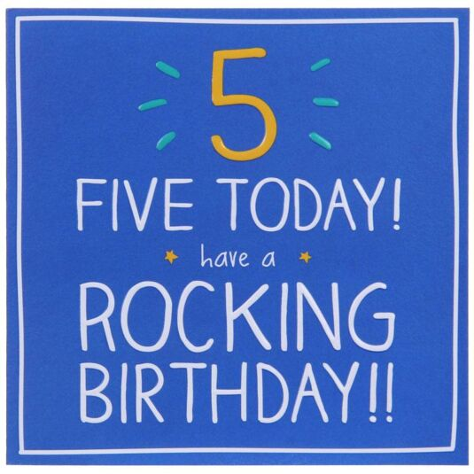 5 Rocking Birthday!! Card