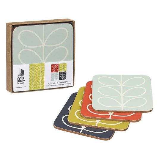 Linear Stem Set of 4 Coasters