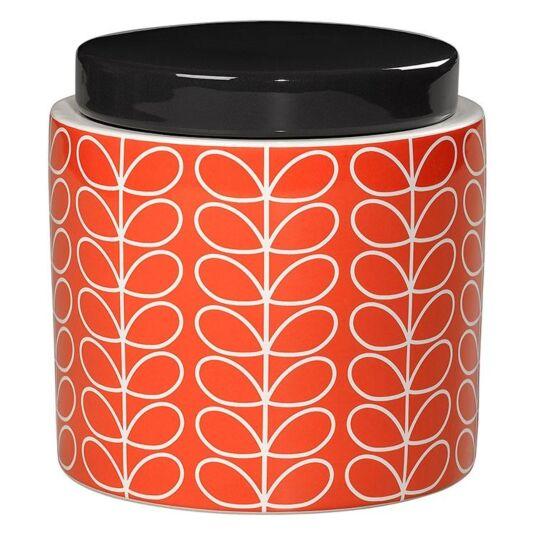 Persimmon Orange Linear Stem Boxed Storage Jar