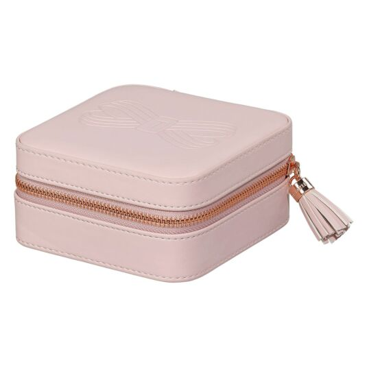 Pink Zipped Jewellery Case