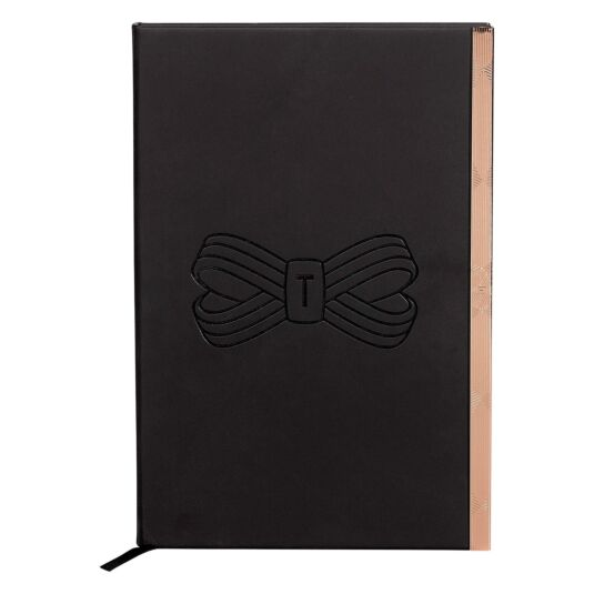 Black Bow Soft Touch A5 Notebook