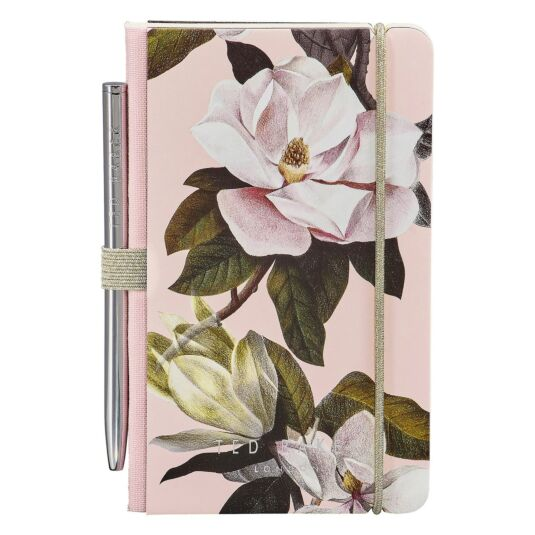 Pink Opal Mini Notebook with Pen