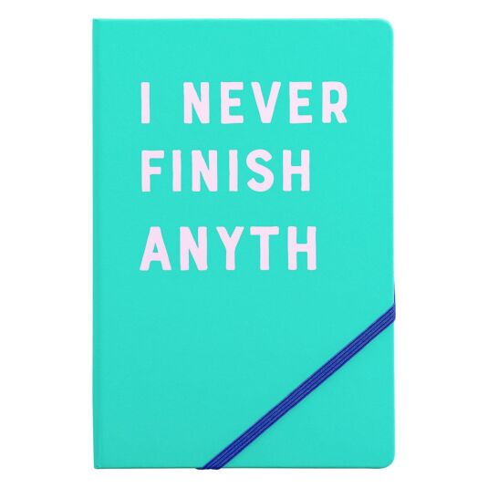 Yes Studio 'I Never Finish Anyth' A5 Notebook