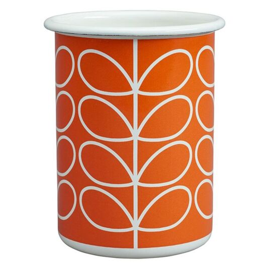 Linear Stem Persimmon Orange Enamel Tumbler