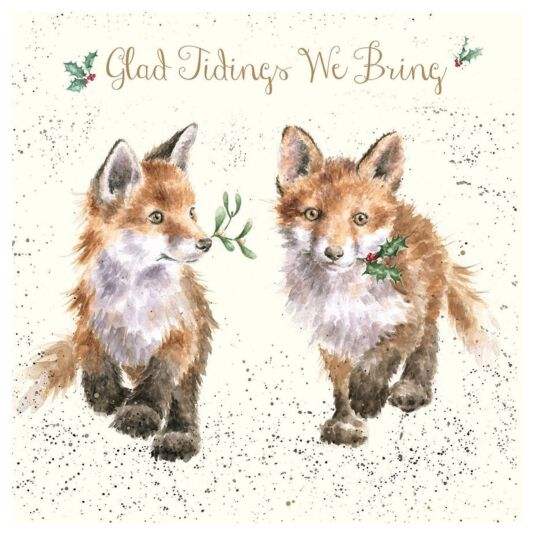 'Glad Tidings We Bring' Luxury Gold Foiled Christmas Card