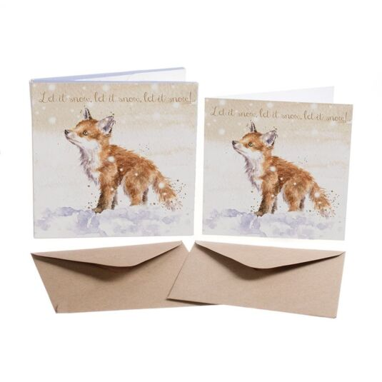 'Let It Snow' Set of 8 Luxury Gold Foiled Christmas Cards