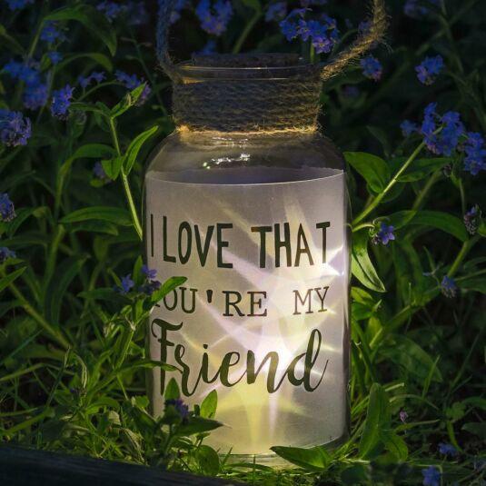 Illuminated 'Friend' Starlit LED Jar