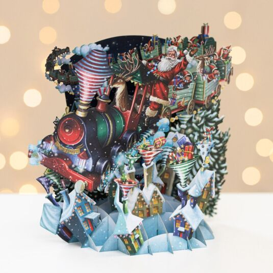 Santa's Express 3D Christmas Card