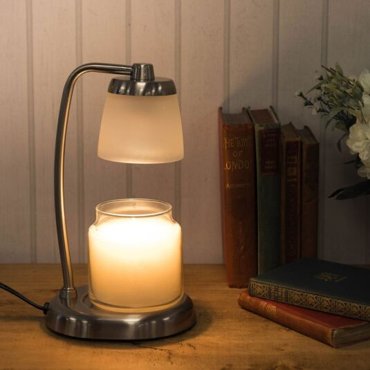 Brushed Nickel Contempo Candle Warmer Lamp